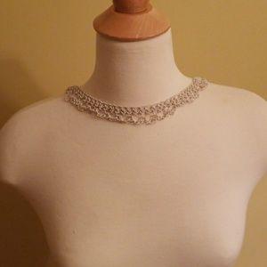Crochet style chain necklace- multiwear